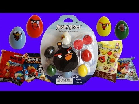Angry Birds Mashem KNEX Star Wars Blind Bags Stamp And Go Set Unoxing