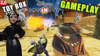 Disney Infinity 2.0 Toy Box: Maleficent + Asgard Tower Defense (red Light Green Light Gameplay)