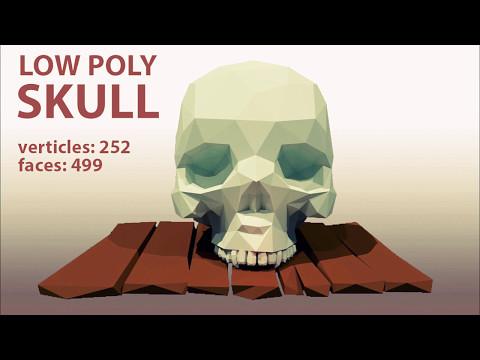 Timelapse Skull Lowpoly