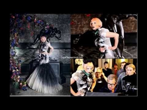 Lady Gaga in dresses from Alexander McQueen