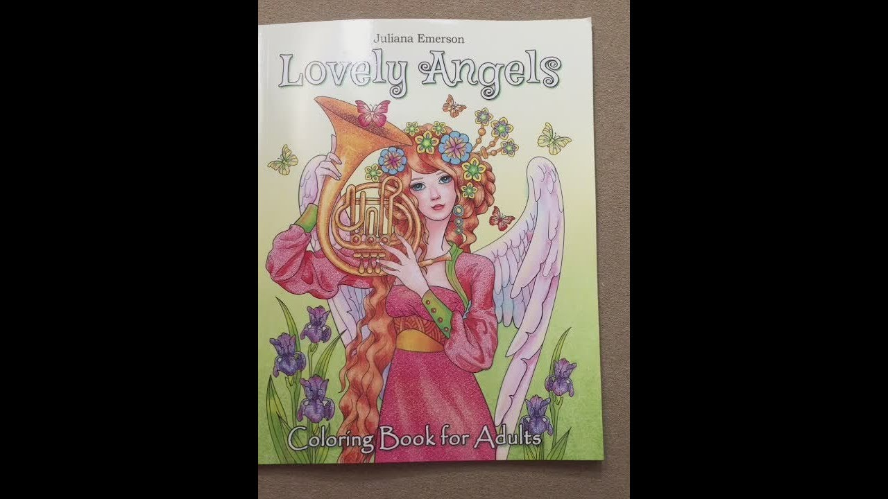 Lovely Angels Coloring Book for Adults
