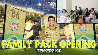 OPENING FIFA 18 PACKS WITH MY ENTIRE FAMILY!! Guarenteed WALKOUTS!!