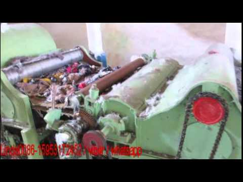 Garments Waste clothes recycling machine Tearing machine