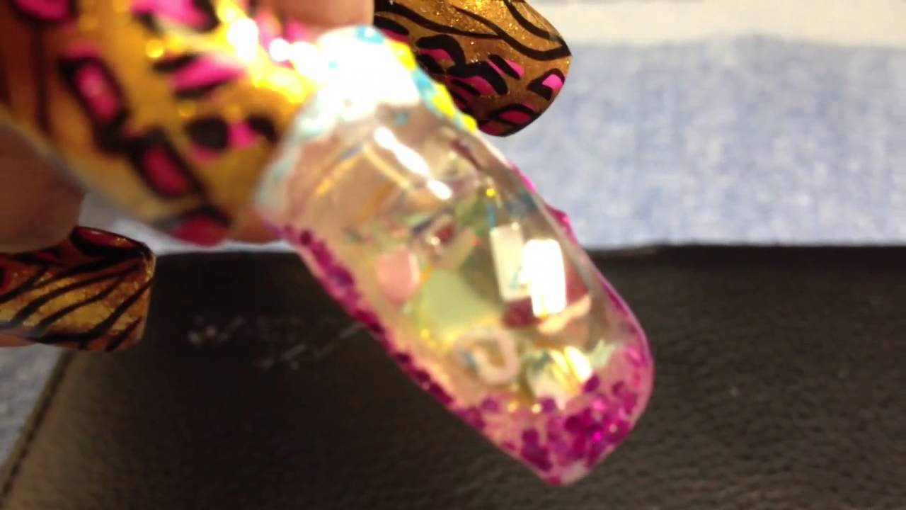 Water nail design - YouTube