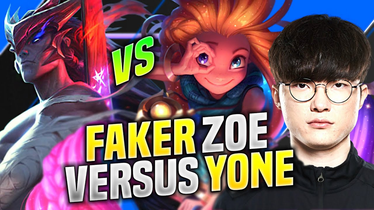 FAKER PLAYS VS YONE MID! - T1 Faker Plays Zoe Mid vs Yone! | KR SoloQ Patch 10.16