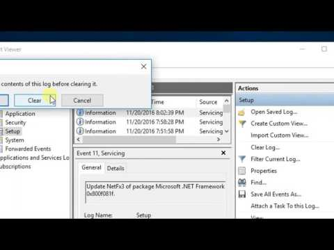 Clear event log in windows 10 - How to guide