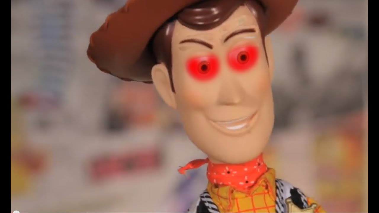 toy story woody attacks joey scary woody youtube