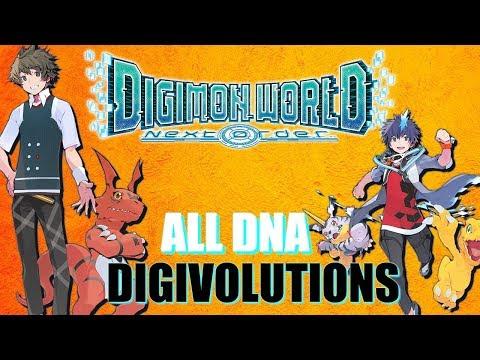 ALL DNA DIGIVOLUTIONS! DIGIMON WORLD NEXT ORDER