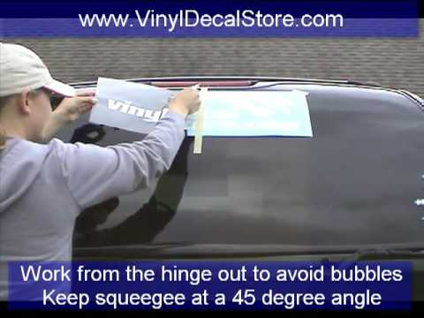 How to install a large vinyl decal or sticker youtube