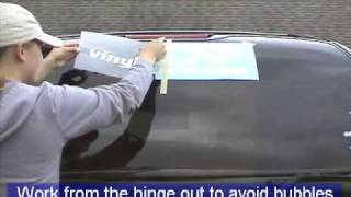 How to Install a Large Vinyl Decal or Sticker