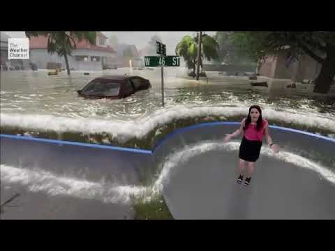 Weather Channel Hurricane Florence storm surge graphics (Eri
