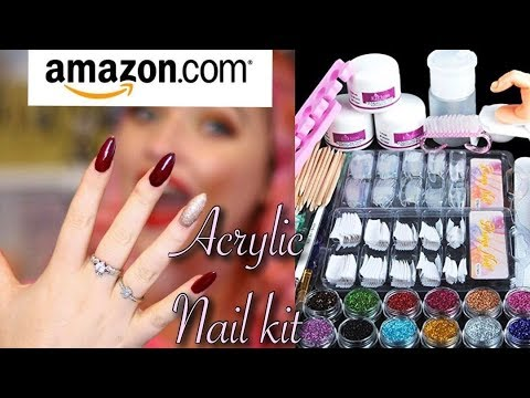 AMAZON ACRYLIC NAIL KIT HAUL UNBOXING FIRST IMPRESSIONS | IdleGirl