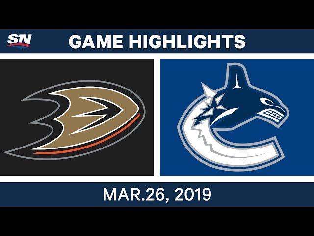 NHL Game Highlights | Ducks vs. Canucks – March 26, 2019