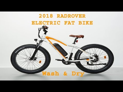 2018 RADROVER ELECTRIC FAT RAD POWER BIKE 05 Wash and Dry