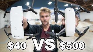 $40 VS $500 Drone Comparison