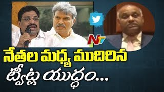 PVP Satirical Tweets On TDP Leaders Twitter Fight || Prasad V Potluri Face to Face || NTV