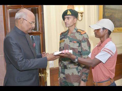 President Kovind meets students from Chirang District of Assam participating in Operation Sadbhavana