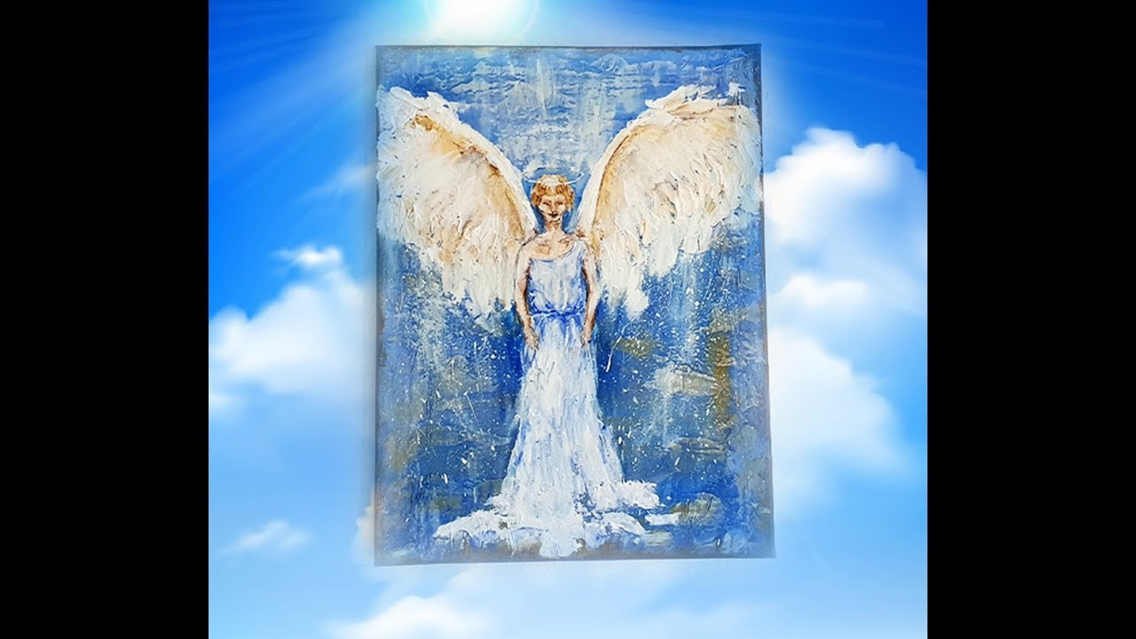 Easy Abstarct Painting For Beginners The Angel Youtube