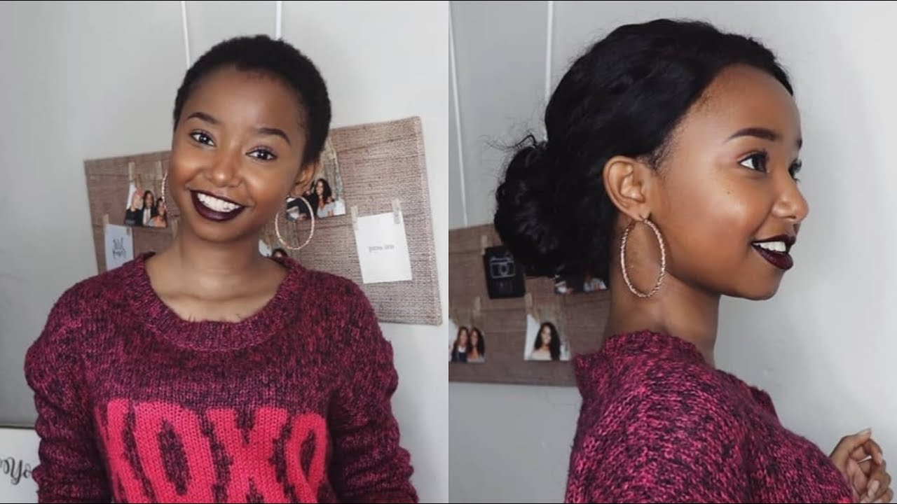 One Month Post Big Chop Update + My First 360 Lace Front Wig | Ft. Elemo hair | Wabosha Maxine
