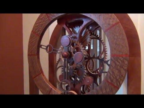 number-six-wood-gear-clock