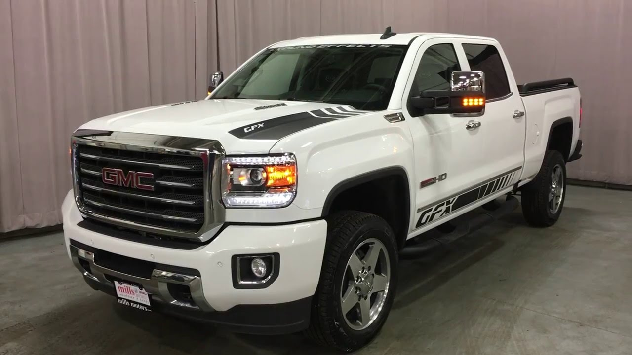 2016 gmc sierra 2500hd slt gfx crew cab 4wd white mills. Black Bedroom Furniture Sets. Home Design Ideas