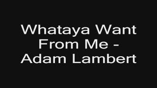 Adam Lambert - What Do You Want From Me - Listen + Download