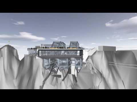 Neubau Seilbahn Zugspitze - die neue Bergstation