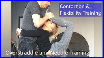 41 Frederick van Laak Contortion: Overstraddle & Needle  - Also for Yoga, Pole, Ballet, Dance People