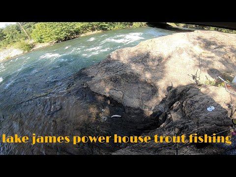 N.C. Trout Fishing At Lake James Powerhouse
