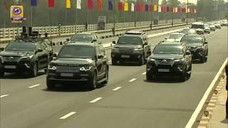 US President Donald Trump & PM Narendra Modi Road Show from Sabarmati Ashram to Motera Stadium