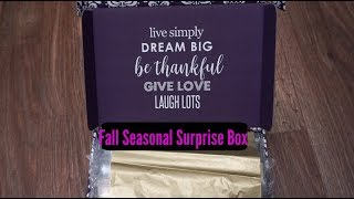 Erin Condren Fall Seasonal Surprise Box 2017