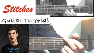 "Shawn Mendes - ""STITCHES"" Guitar Tutorial (Easy Lesson/Chords)"