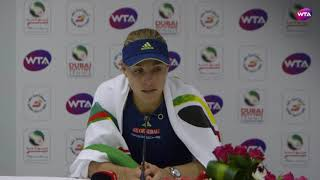 2018 Dubai press conference: Angelique Kerber is stronger both  mentally and physically