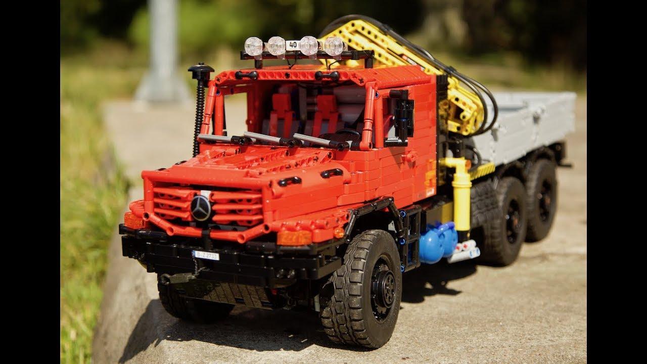 Mercedes Zetros 2733 6x6 Full Rc Lego Technic Moc