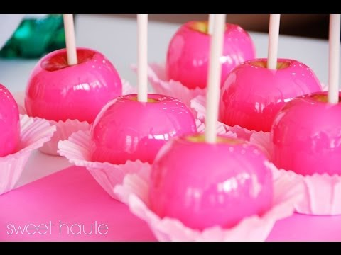 Neon Hot Pink DIY Candy Apples Tutorial (first video)