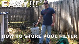 How To Store a Pool Filter for the Winter