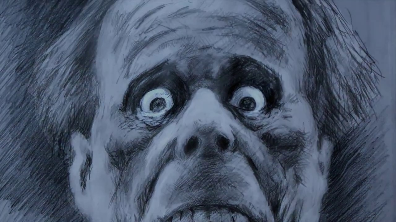 Lon chaney horror monster pencil sketch time lapse