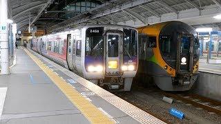JR四国2000系2458+2425 特急しまんと7号 高知行き 高松駅