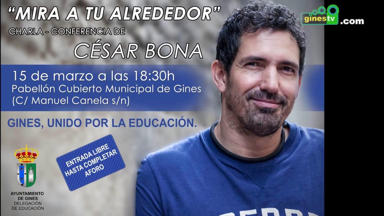 César Bona ofrecerá el 15 de marzo en Gines su visión sobre la educación