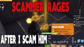 Fortnite Save The World Scammer Rages After i Scam Him *MUST WATCH*
