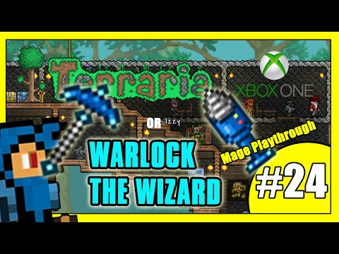 Terraria Mage Let's Play Part 24 - PICKAXE OR DRILL? - Warlock The Wizard's Adventure (Xbox One)