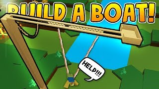 BUNGEE JUMPING in build a boat! - ROBLOX