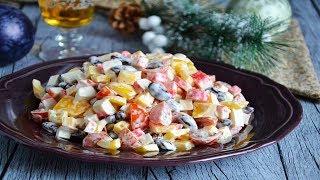 Салат крабовые палочки  фасоль консервированная