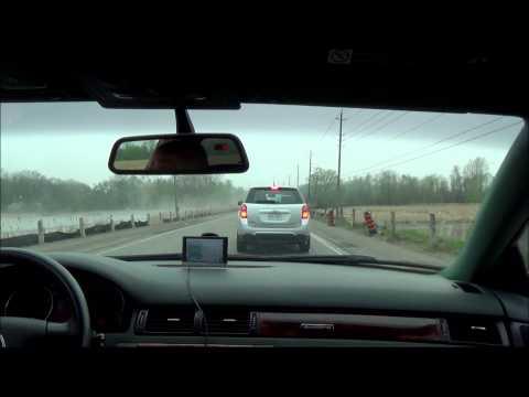 Driving from Oshawa, Ontario to Ajax, Ontario.