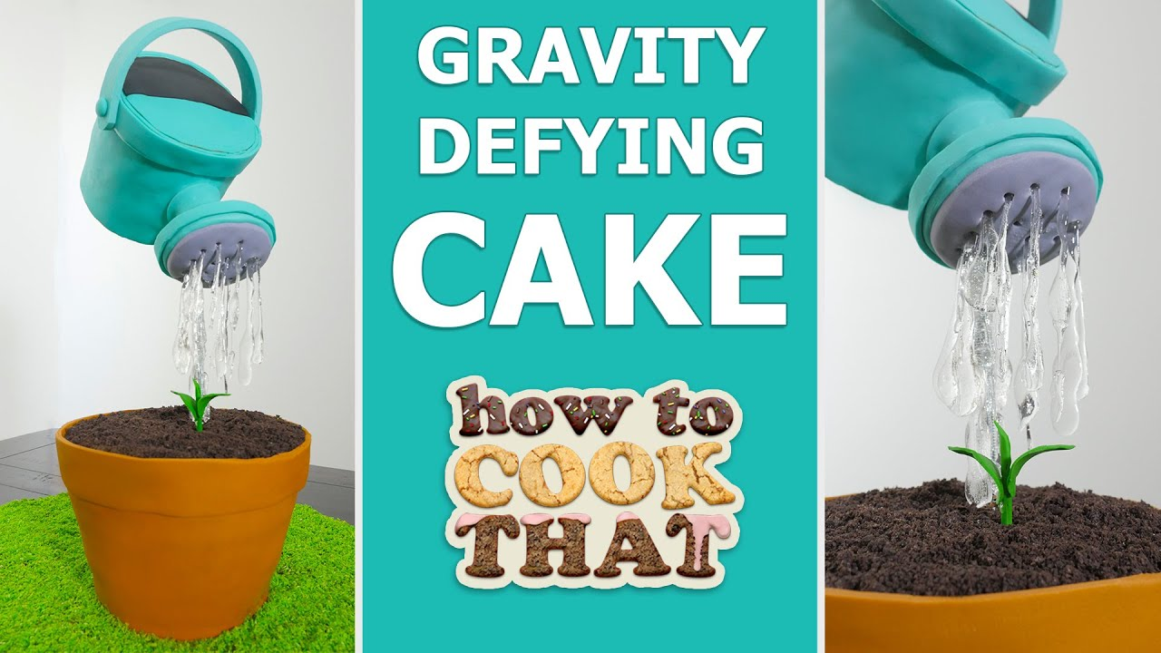 Gravity Defying Watering Can Cake How To Cook That Ann