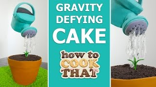 GRAVITY DEFYING WATERING CAN CAKE How To Cook That Ann Reardon #spon thumbnail