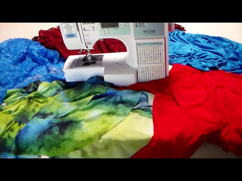 "How to make clothes ""sewing stretch fabric"" video #5"