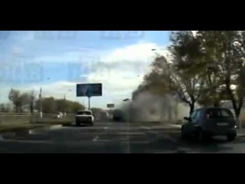 Терракт в Волгограде (Запись взрыва с видеорегистратора) 18+