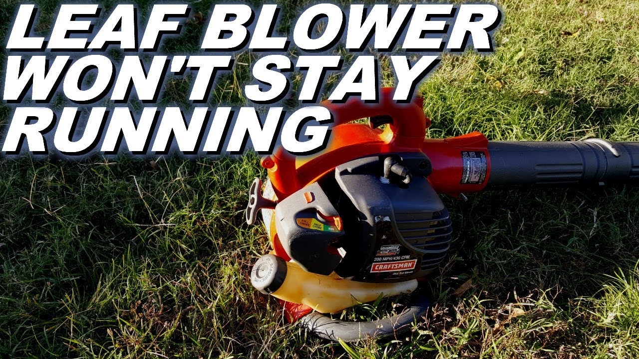 Craftsman leaf blower has a problem staying running after storage
