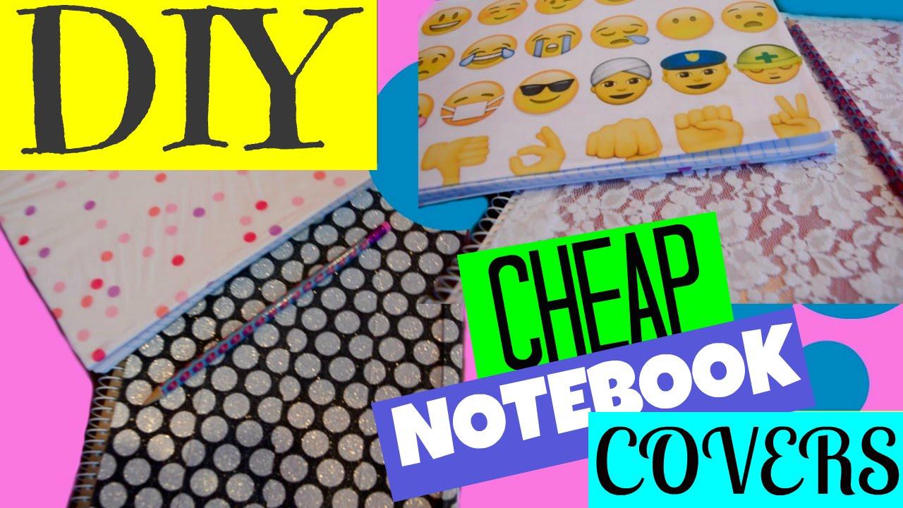 Diy Emoji Book Cover : Diy cheap notebook cover out of washi tape nail polish old